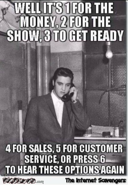 Funny Elvis blue suede shoes meme @PMSLweb.com