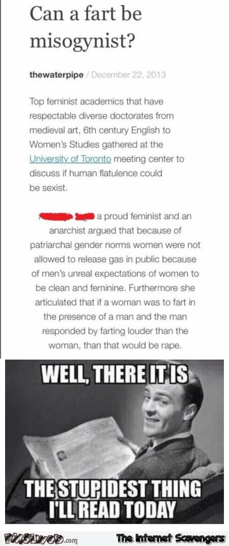 Can a fart be misogynist humor @PMSLweb.com