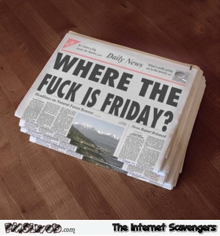 Where the fuck is Friday humor