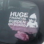 Huge financial burden on board funny car sticker @PMSLweb.com