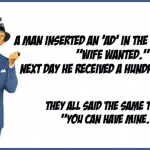 Man looking for a wife funny husband wife joke @PMSLweb.com