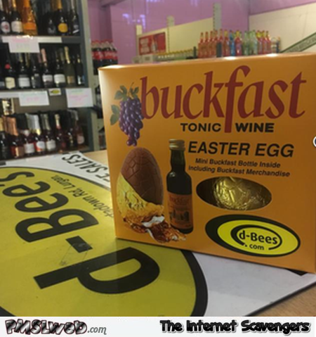 Funny Tonic wine Easter egg