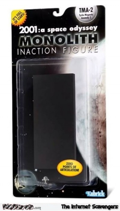 Funny 2001 monolith action figure