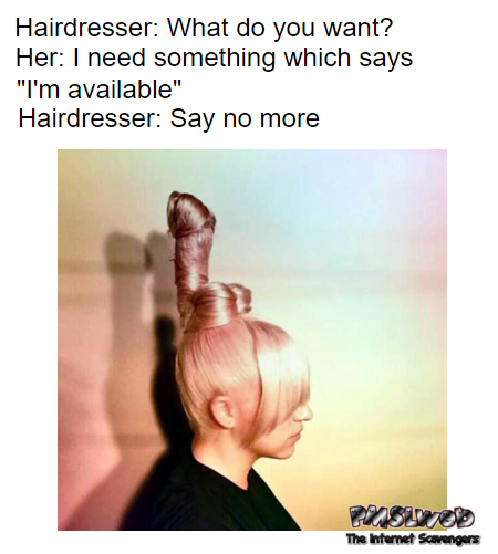 Funny naughty meme penis hairstyle fail @PMSLweb.com