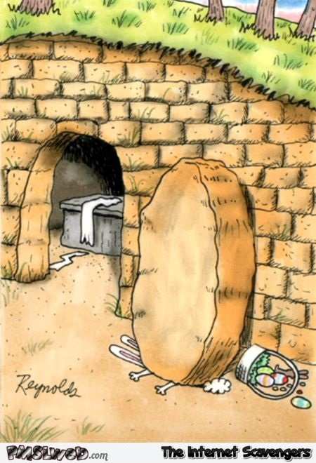 Death of the Easter bunny funny cartoon