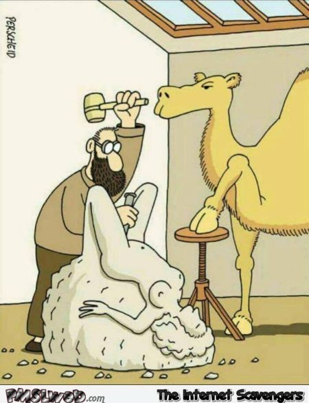 Sculpting the camel toe funny adult cartoon @PMSLweb.com