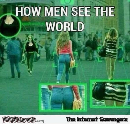 How men see the world funny meme - Silly memes and pictures @PMSLweb.com