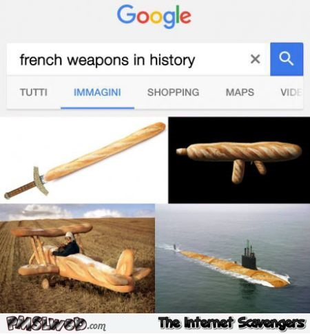 French weapons in history funny Google search @PMSLweb.com