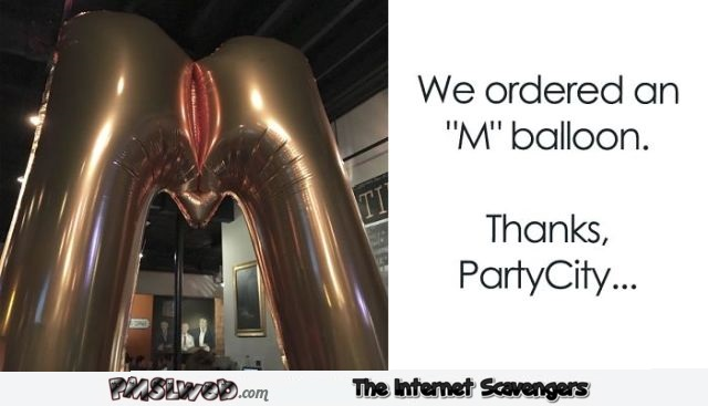 We ordered an M balloon funny fail @PMSLweb.com