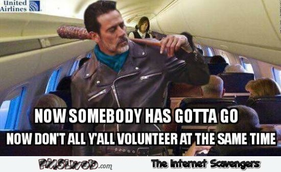 Volunteering on United Airlines funny meme @PMSLweb.com