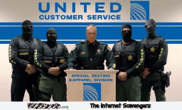 United Airlines customer service funny meme @PMSLweb.com