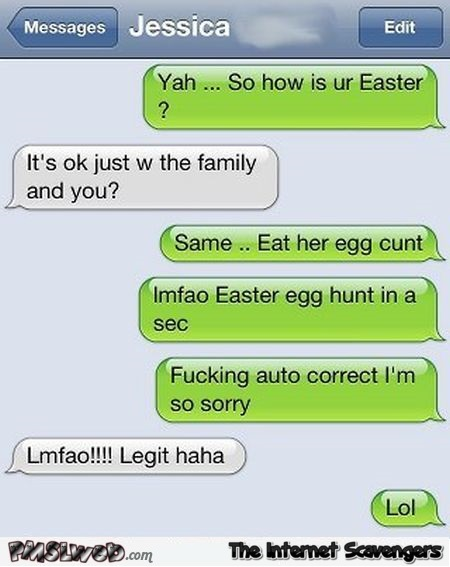 Funny Easter egg cunt autocorrect