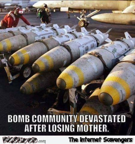 Bombs devastated after losing mother funny meme - Amusing picture collection @PMSLweb.com