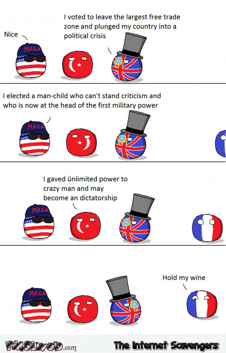 Funny PolandBall French elections cartoon @PMSLweb.com