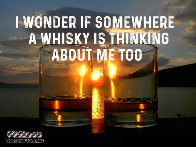 I wonder if somewhere a whisky is thinking about me too funny meme @PMSLweb.com