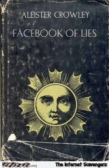 Facebook of lies funny book cover - TGIF nonsense collection @PMSLweb.com