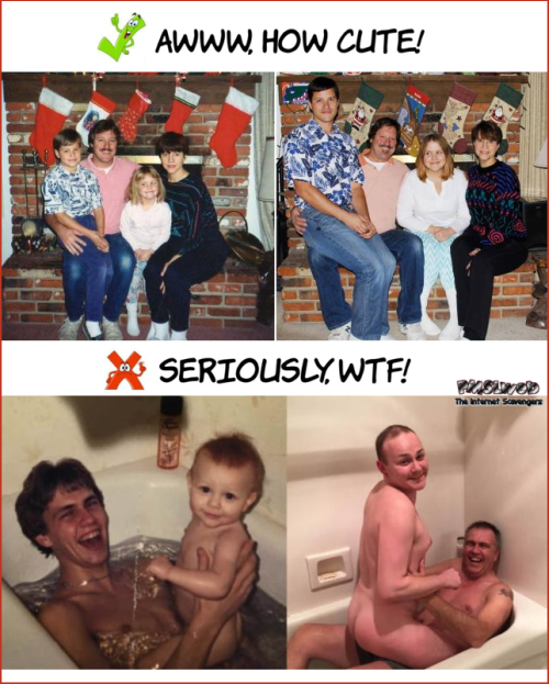 Funny WTF before and after family photo @PMSLweb.com