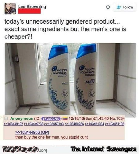 Gendered product price funny comment @PMSLweb.com