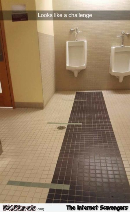 Looks like a challenge funny urinal meme - Humorous picture collection @PMSLweb.com
