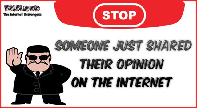 Someone just shared their opinion on the internet sarcastic humor @PMSLweb.com