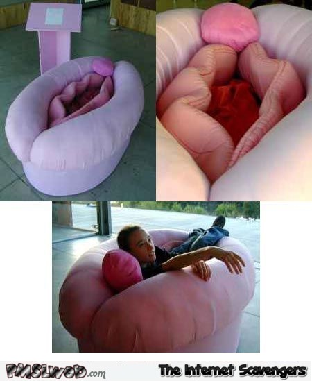 Funny vagina couch design - Naughty adult humor @PMSLweb.com