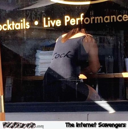 Funny window reflection fail @PMSLweb.com