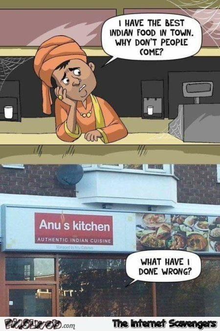 Anus kitchen funny Indian restaurant name fail - Funny Internet pictures @PMSLweb.com