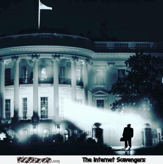 Funny white house exorcist poster - Friday lol memes @PMSLweb.com