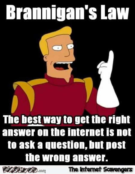 The best way to get the right answer on the Internet funny meme @PMSLweb.com