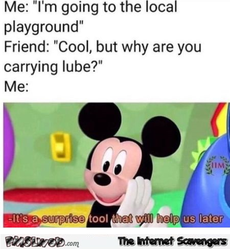 Lube is a surprise tool that will help us later funny meme - Funny Sunday Nonsense @PMSLweb.com