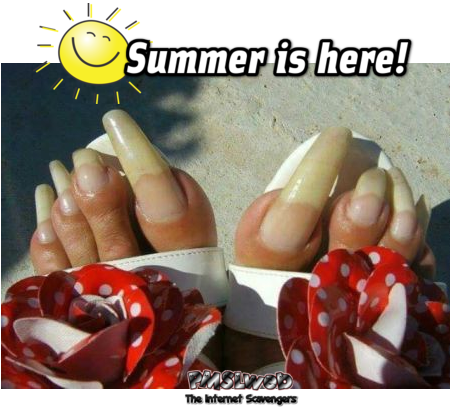 Summer is here ugly toes meme - Funny Thursday picture gallery @PMSLweb.com
