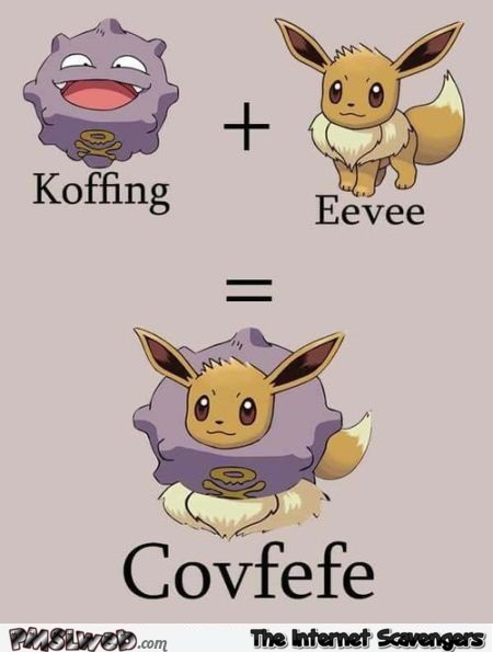 Covfefe explained with Pokemons humor @PMSLweb.com