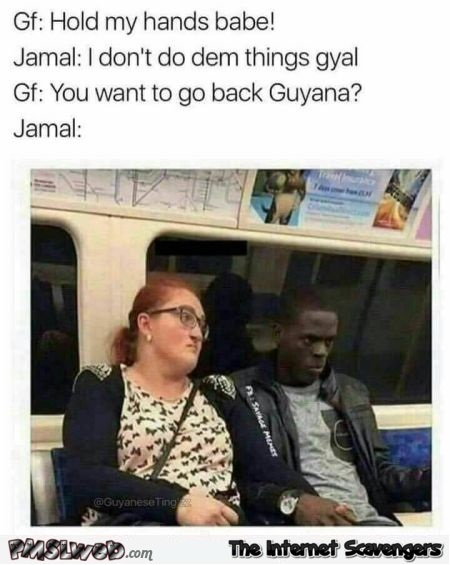 Do you want to go back to guyana funny meme @PMSLweb.com
