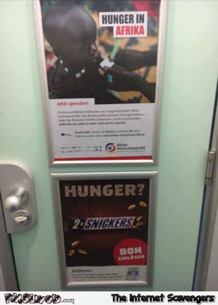 Snickers advert placement fail inappropriate humor @PMSLweb.com