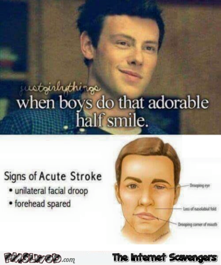 When boys do that adorable half smile funny meme @PMSLweb.com