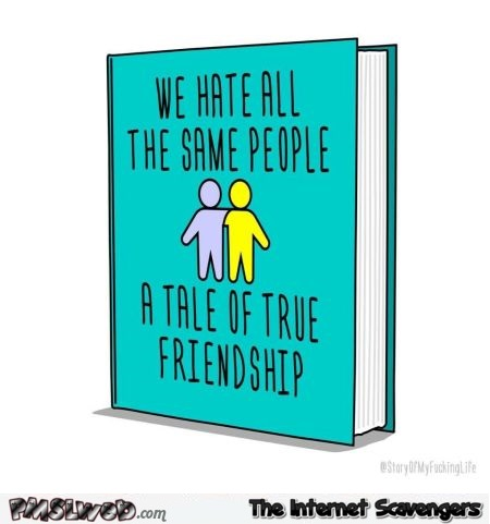 We hate all the same people book cover funny cartoon @PMSLweb.com