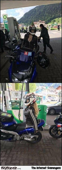 Funny forever alone biker edition