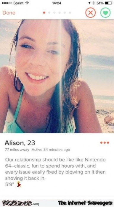 Our relationship should be like Nintendo 64 classic funny tinder profile