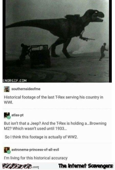 Historical footage of the last dinosaur funny comments