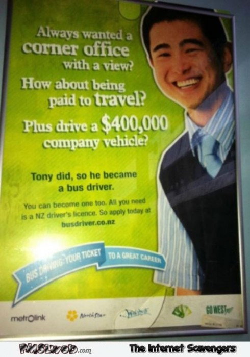 Become a bus driver funny advert