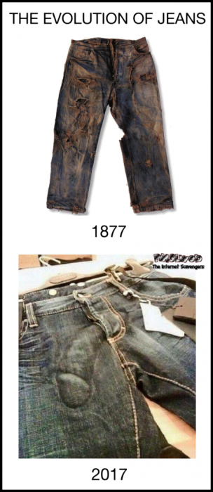 The evolution of Jeans adult humor