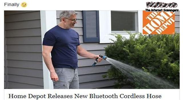 Funny new bluetooth cordless hose prank @PMSLweb.com