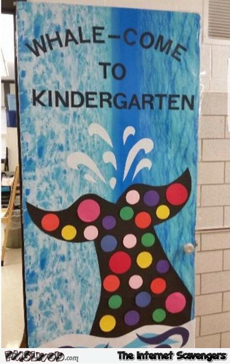 Funny welcome to kindergarten sign fail @PMSLweb.com