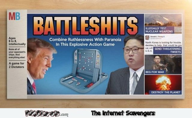 Funny Trump and Kim Jong Un boardgame @PMSLweb.com