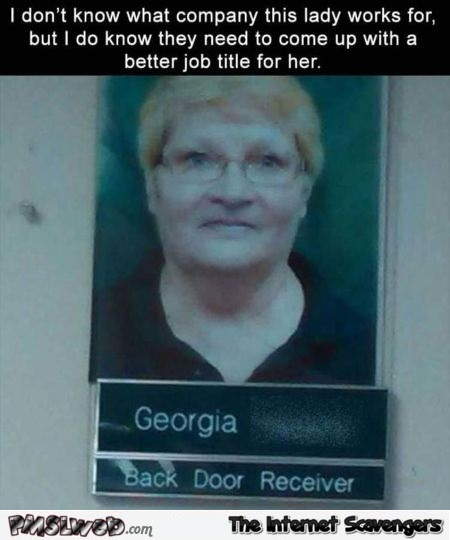 This lady needs a better job title humor @PMSLweb.com