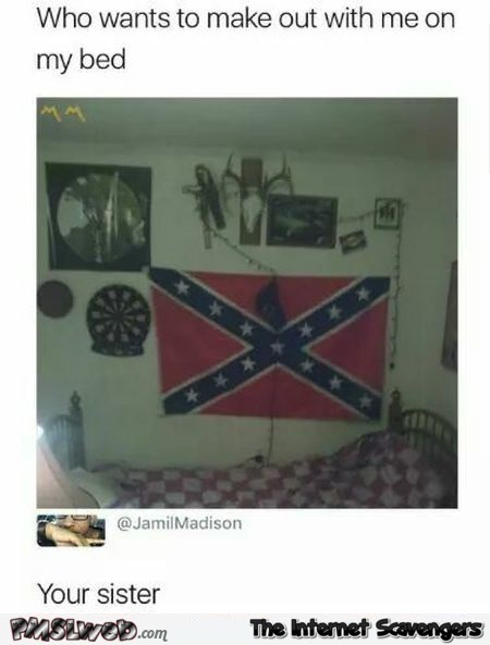 Funny confederate flag comment @PMSLweb.com