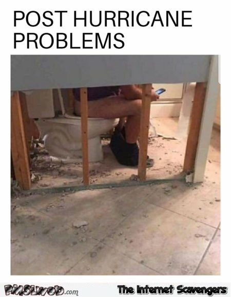 Post hurricane problems funny meme