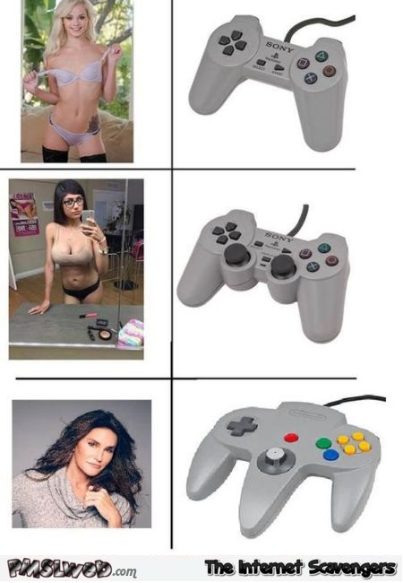 If Caitlyn Jenner was a game controller humor