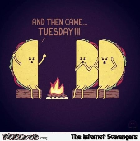 Funny Taco Tuesday Halloween cartoon @PMSLweb.com