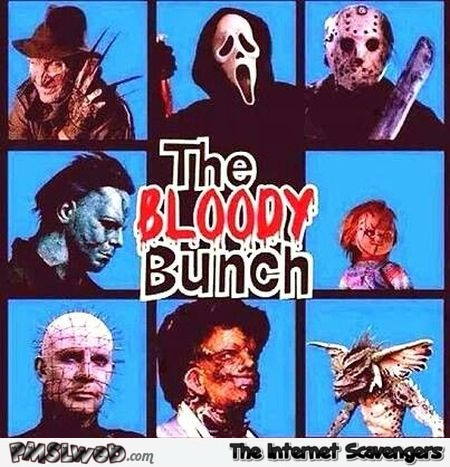 The bloody bunch funny Halloween meme @PMSLweb.com